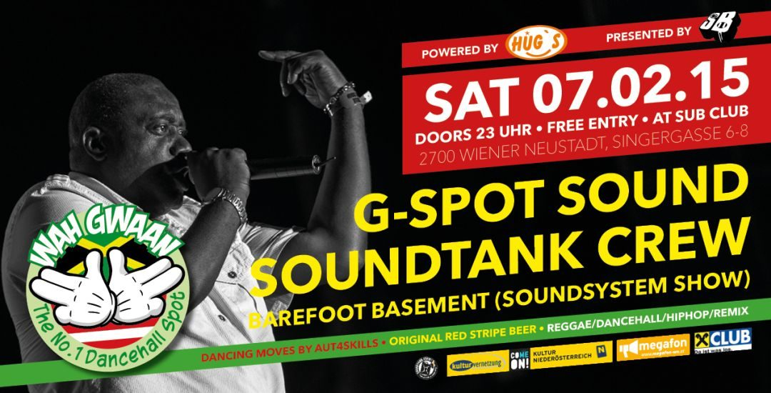 Wah Gwaan Saturdays with G-SPOT Sound 7.2.15