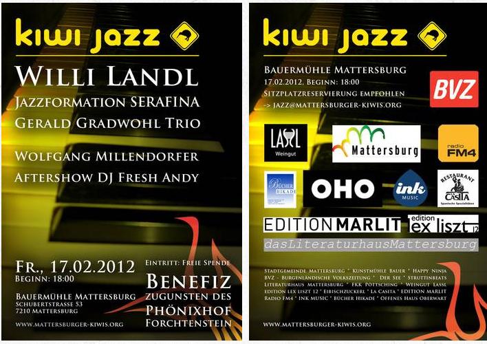 Kiwi Jazz – Bauermühle Mattersburg – 17.2.2012
