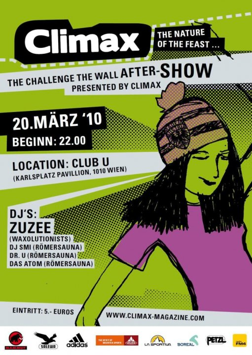 Climax – Challenge the wall Aftershow @ Club U – 20.3.10