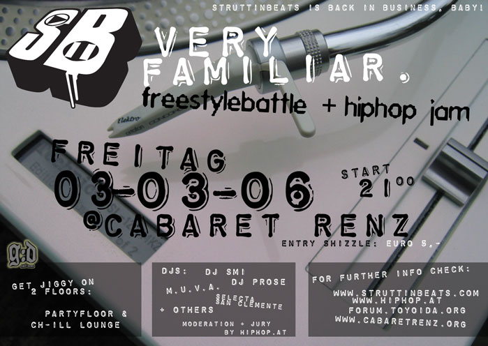 Very Familiar HipHop Jam – 3.3.06