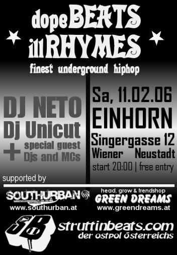 Struttinbeats-wiener-neustadt-Dope Beats Ill Rhymes - 11.2.06