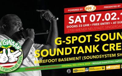 Wah Gwaan Saturdays with G-SPOT Sound 7.2.15