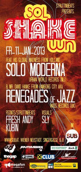 SOL SHAKE WN ft. Solo Moderna & Renegades of Jazz – 11.1.13