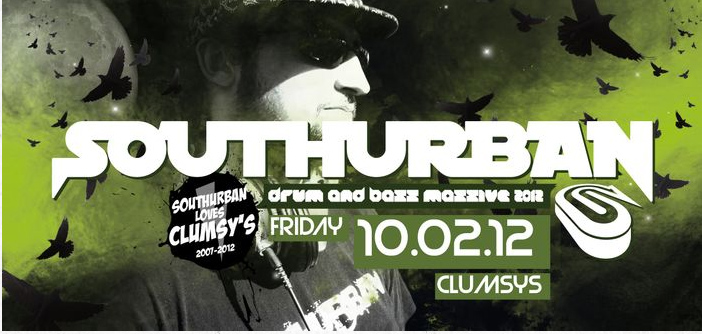 Southurban Drum n Bass Night – Clumsys – 10.2.12